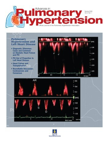 Pulmonary Hypertension and Left Heart Disease, Spring 2006 (Vol 5 ...