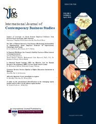 International Journal of Contemporary Business Studies