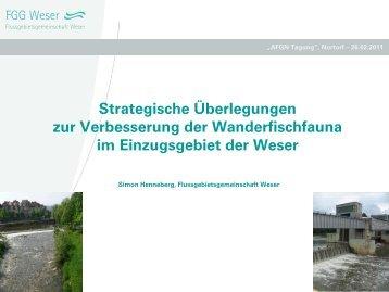 Entwicklung einer Strategie zur Verbesserung der ... - Wanderfische