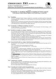 Protokoll der 14. ordentlichen Mitgliederversammlung