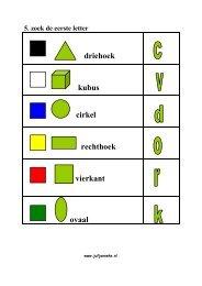 driehoek kubus cirkel rechthoek vierkant ovaal - Juf Janneke