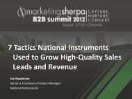 7 Tactics National Instruments Used to Grow High-Quality ... - meclabs