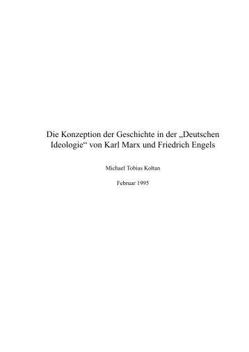 """Die Konzeption der Geschichte in der """"Deutschen ... - Michael Koltan"""