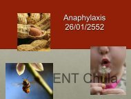 Anaphylaxis 26/01/2552