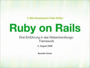 Ruby on Rails - webdevFulda