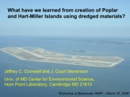 What have we learned from creation of Poplar and Hart-Miller ...