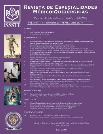 Revista de Especialidades Médico-Quirúrgicas - Revistas Médicas ...
