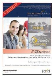 Sicher vom Neueinsteiger zum MCSA SQL Server 2012 - Schöll AG