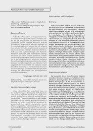 Psychiatrische Komorbidität bei Epilepsien