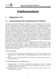 Praktikumsordnung (SoSe 2013) - Goethe-Universität