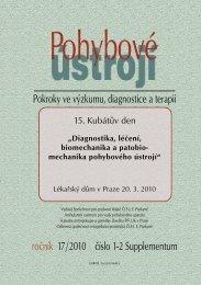 Supplementum 1+2/2010 - Společnost pro pojivové tkáně