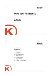 Büro Schoch direct AG - Koch Kommunikation