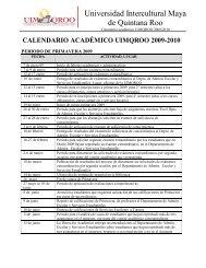 calendario académico uimqroo 2009-2010