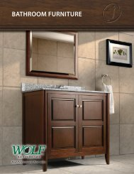 BATHROOM FURNITURE - WOLF Home Products