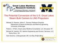 Steam Bulk Carrier LNG Conversion Study - Great Lakes Maritime ...