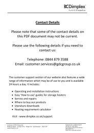 Dimplex Obsidian_Instructions_Issue_4 - Glen Dimplex Ireland