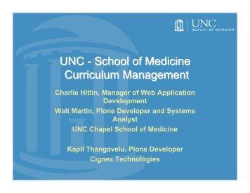 Case Study: UNC Medical School - Plone