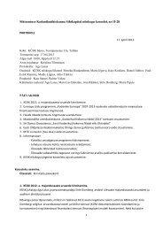 Nõukogu koosoleku protokoll nr-II-28, 17. aprill. 2013 - KÜSK