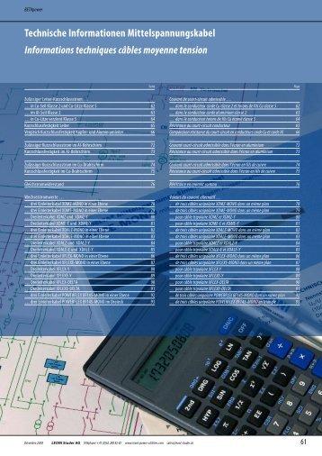Technische Informationen Mittelspannungskabel Informations ...