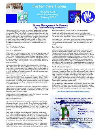 January 2012 Foster Care Forum - Waukesha County