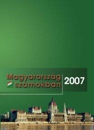 Magyarország számokban, 2007 - Központi Statisztikai Hivatal