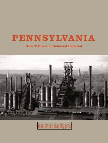 selected backlist - Pennsylvania State University Press