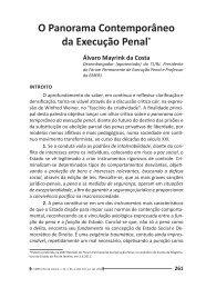 O Panorama Contemporâneo da Execução Penal* - Emerj