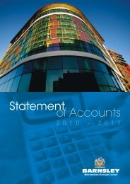 2010/11 Statement of Accounts - Barnsley Council Online