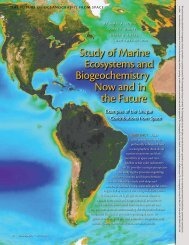 Study of Marine ecosystems and Biogeochemistry Now and in the ...