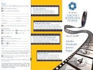 Another Wonderful Journey Begins - Toronto Jewish Film Festival