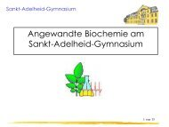 Angewandte Biochemie - Sankt-Adelheid-Gymnasiums Bonn