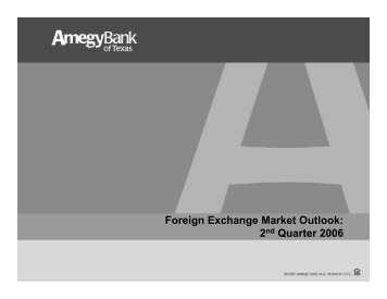 Foreign Exchange Market Outlook - International Trade Center-SBDC