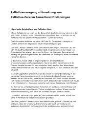 Palliativversorgung – Umsetzung von Palliative ... - Samariterstiftung