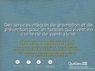 Des services intégrés de promotion et de prévention en périnatalité ...
