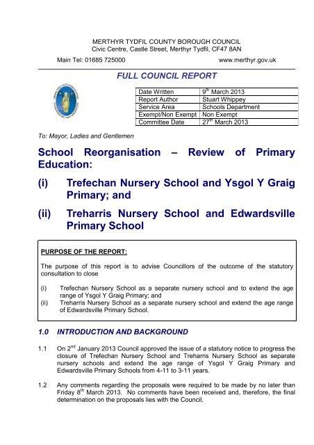 Trefechan Nursery School And Ysgol Y