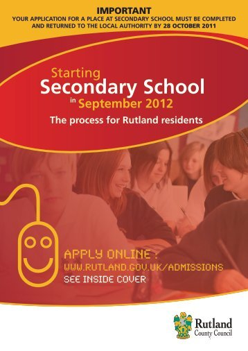 Secondary School - Rutland County Council
