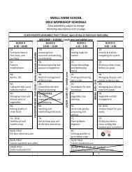 2013 Program and Workshop Descriptions - Oregon Small Farms