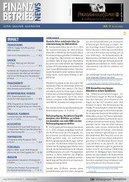 finanz betrieb finanz betrieb - CORPORATE FINANCE fachportal