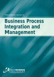 Business Process Integration and Management - Inderscience ...