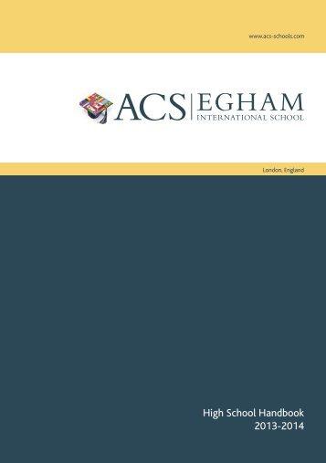Egham pdf - ACS International Schools