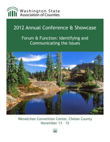 2012 Annual Conference Program - Wacounties.org