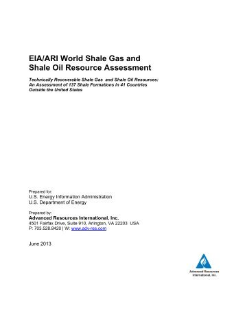 EIA/ARI World Shale Gas and Shale Oil Resource Assessment