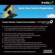 Quick Start Guide & Registration - Snooper Services