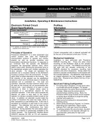 Automax BUSwitchTM – Profibus-DP - Flowserve Corporation