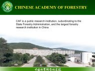 CHINESE ACADEMY OF FORESTRY - APAFRI-Asia Pacific ...
