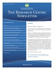 Autumn 2012 - the Research Centre Page