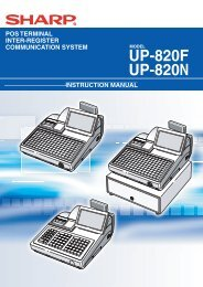 UP-820F/N Operation-Manual GB - Sharp