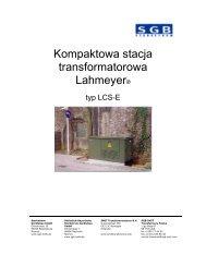 Kompaktowa stacja transformatorowa typ LCS-E - SMIT Transformers