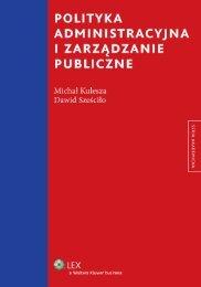 polityka administracyjna i zarządzanie publiczne - Księgarnia ...