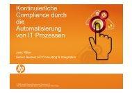 Kontinuierliche Compliance durch die Automatisierung von Service ...